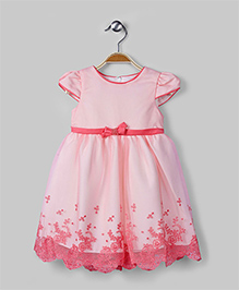Pastel Pink Scallop Embroidered Dress