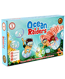 Logic Roots Addition Board Game For Kids - Ocean Raiders - 9 X 9 X 2 Inches