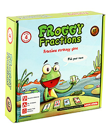 Logic Roots Fractions Strategy Game - Froggy Fractions - 6 X 4 X 1 Inches