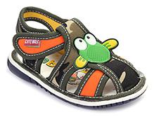 Cute Walk Baby Sandals Velcro Closure - Applique