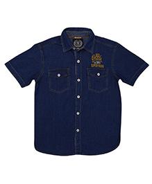 Super Young Half Sleeves Denim Shirt - Blue