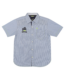 Super Young Half Sleeves Gingham Shirt - Blue