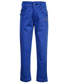 Babyhug Twill Trouser - Royal Blue