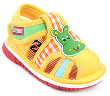 Cute Walk Baby Sandals Velcro Closure - Donkey Face Patch