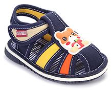 Cute Walk Baby Sandals Velcro Closure - Panda Applique