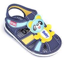 Cute Walk Baby Sandals - Baby Panda Applique