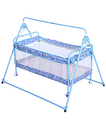 New Natraj Sleepwell Baby Cradle Blue - My Friend Print