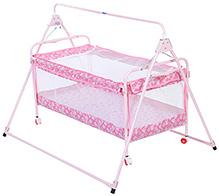 New Natraj Sleepwell Baby Cradle Pink - My Friend Print