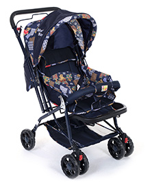 Mee Mee Stylish Stroller Cum Pram MM20 - Bear Print