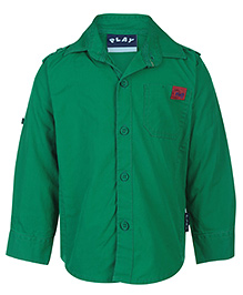 Little Kangaroos Full Sleeves Solid Shirt - Play Patch