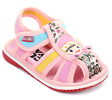Cute Walk Baby Sandal Velcro Closure - Girl Applique