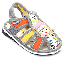 Cute Walk Baby Sandal Velcro Closure - Girl Applique