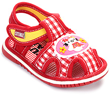 Cute Walk Baby Sandal Velcro Closure - Kitty Patch