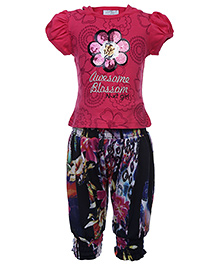 N-XT Top And Harem Pant Set - Flower Prints