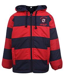 Babyhug Full Sleeve Hooded Sweatshirt - Stripes