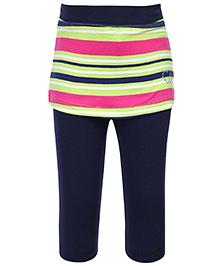 Babyhug Leggings With Short Skirt - Stripes