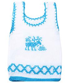 Babyhug Sleeveless Baby Sweater - Elephant Print