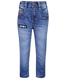 Babyhug Denim Jeans - Embroidery And Patch
