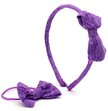 Addon Hair Band With Rubber Band - Bow Applique