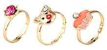 Addon Finger Ring Set Multi Color - Set of 3