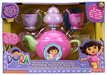 Fisher Price Dora Tea Set - 10 Pieces