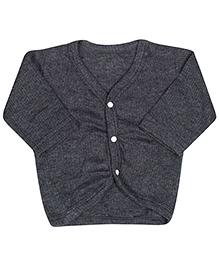 Babyhug Front Open Vest - Anthra Melange Color