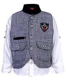 Noddy Full Sleeve Shirt And Jacket - NY Jeans Patch