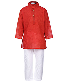 Babyhug Full Sleeve Kurta And Pajama - Solid Colour