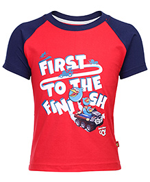 Angry Birds Printed Raglan Sleeve T-Shirt - Red