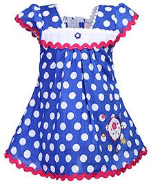 Babyhug Cap Sleeves Frock - Polka Dot Print