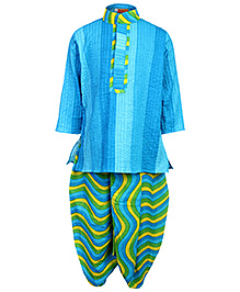Exclusive from Jaipur Full Sleeve Kurta And Dhoti - Multi Colour