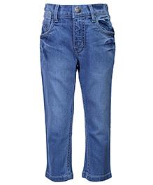 Palm Tree Jeans Full Length - Blue
