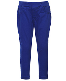 Palm Tree Jegging Full Length - Royal Blue