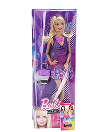 Barbie Fashionistas Doll Purple - Height 30 Cm - 3 Years +