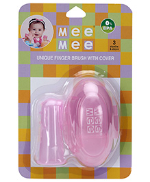 Mee Mee Finger Brush With Storage Case - Pink