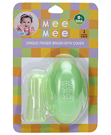 Mee Mee Finger Brush With Storage Case - Green