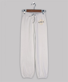 ATUN Track Pant With Drawstring - White And Golden