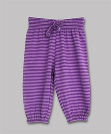 ATUN Loose Pant With Drawstring Purple - Stripes