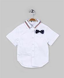 Anchor Bow White Shirt