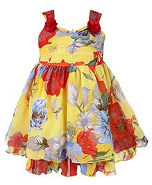 Babyhug Singlet Frock Multi Color - Floral Print