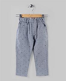 Printed Cadet Gray Pants