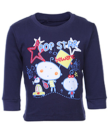Tango Full Sleeves T-Shirt - Pop Star Print
