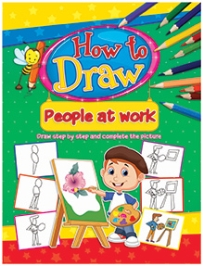 Dreamland Coloring Book How To Draw People At Work Book 4 - English