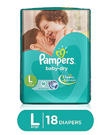 Pampers Baby Dry Diaper Large - 18 Pieces