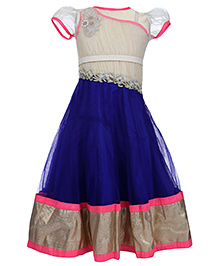 Doll One Shoulder Party Dress With Inner Top - Stone Work