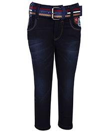Talent Denim Jeans With Belt - Blue