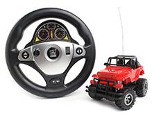 Fab N Funky RC Steering Wheel Emulate Jeep - Red