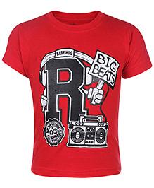 Babyhug Short Sleeve T-Shirt - Big Beats