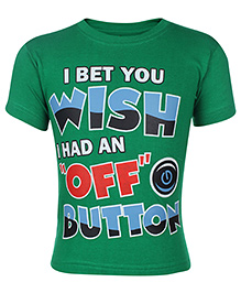 Babyhug Short Sleeve T-Shirt Printed - Green