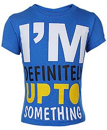 Babyhug Short Sleeve T-Shirt Printed - Blue